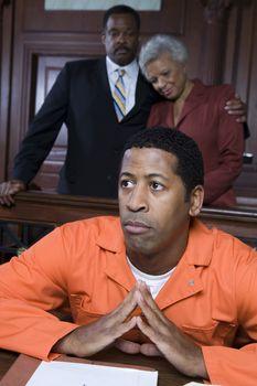 Criminal sitting in court