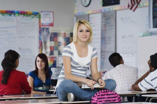 High School Student in Class