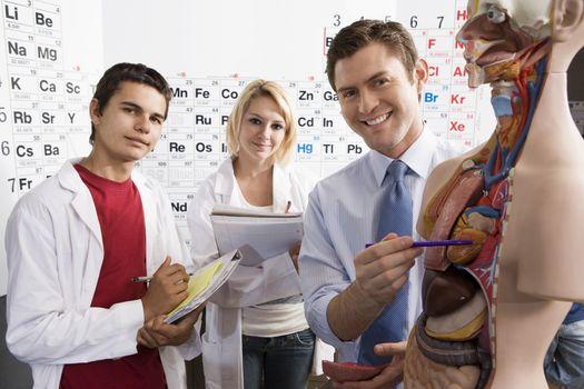 Teacher Giving Anatomy Lesson