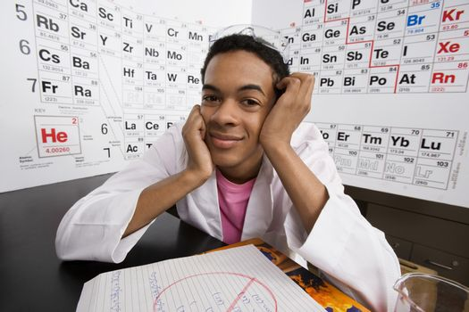 Student in Science Class