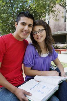 High School Couple Studying