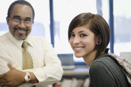 High School Student and Teacher