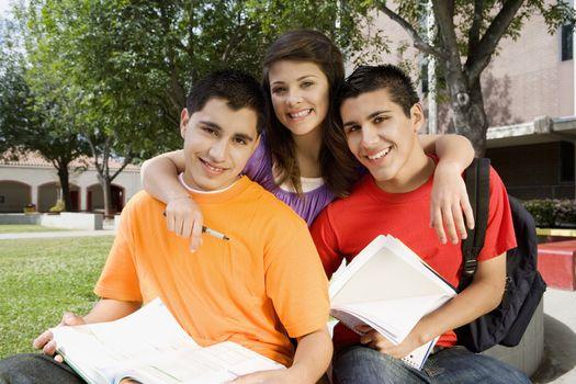 High School Friends Studying