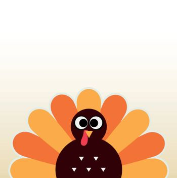 Happy Thanksgiving day card with copyspace. Vector Illustration