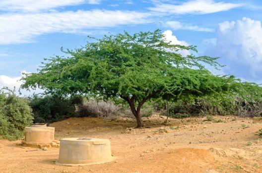 Wells in a desert region of Colombia used by the indigenous Wayuu for water in La Guajira