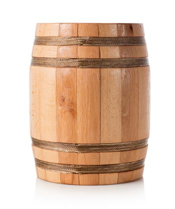Wooden barrel isolated