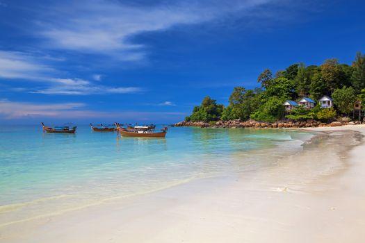 Beautiful beach and blue water on Koh Lipe