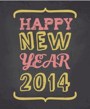 Chalkboard Happy New Year Card