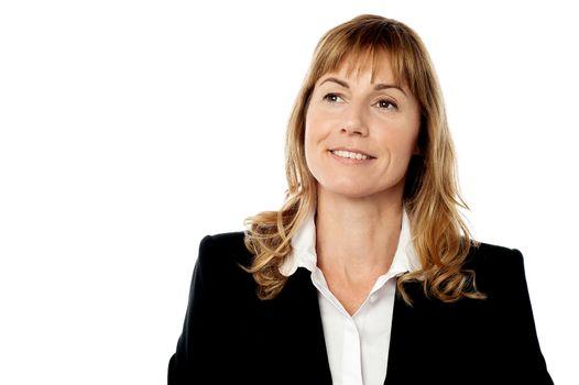 Businesswoman recalling old days