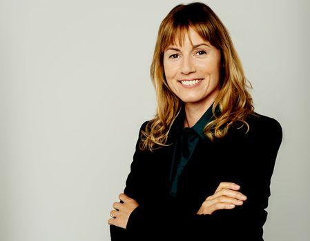 Charming pretty female business executive