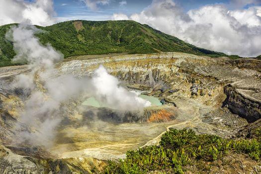 Poas Volcano Crater