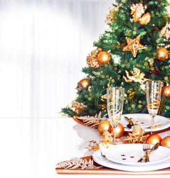 Christmas dinner border