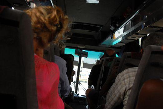 Travellers in bus