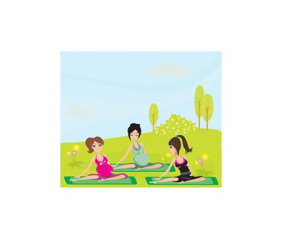 Childbirth education classes outdoors