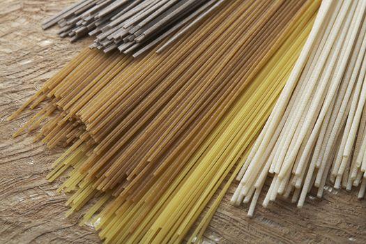 Closeup of dried pasta