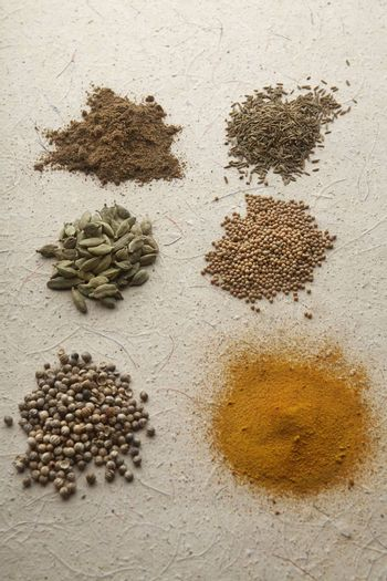 Heaps of various exotic spices