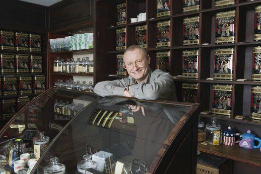 Tea Shop Owner in Store