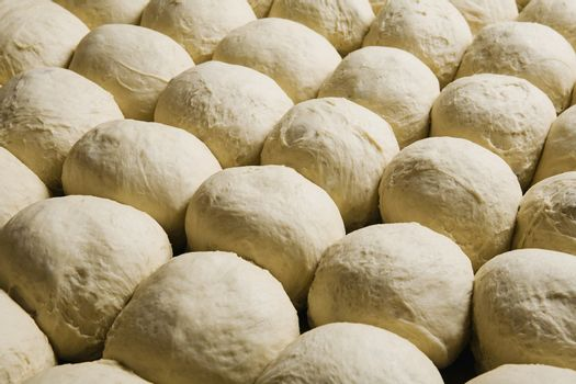Full frame image of buns bread dough ready to bake