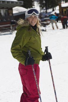 Skier at Ski Resort