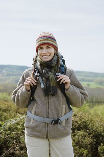 Young Woman Hiking