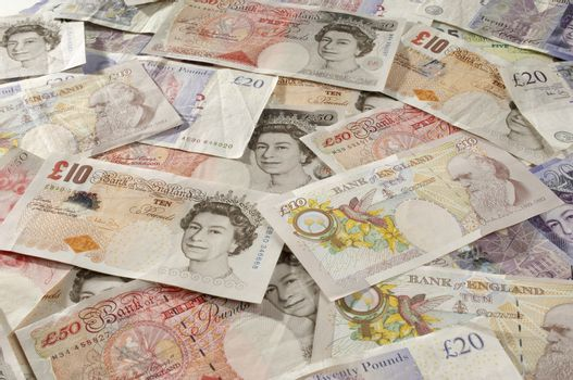 Full frame shot of British paper currency