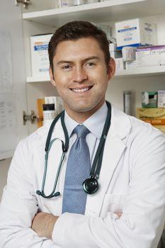 Male doctor in hospitalportrait