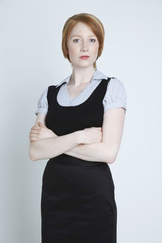 Studio shot of businesswoman