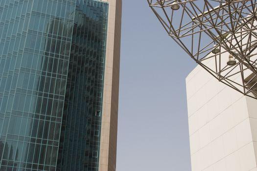 Architectural detail of the buildings in Deira, Dubai, UAE