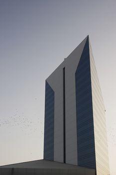 Exterior of tall commercial building in Deira, Dubai, UAE