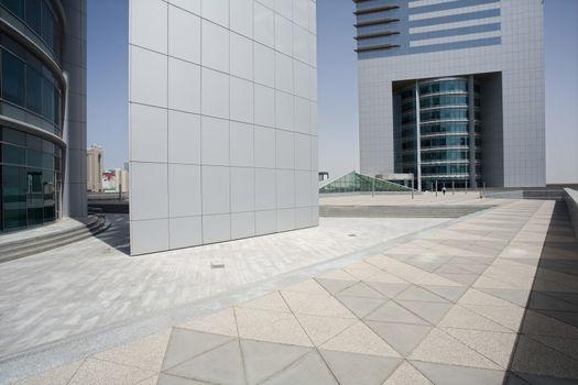 Emirates Towers Plaza on Sheikh Zayed Road, Dubai, UAE