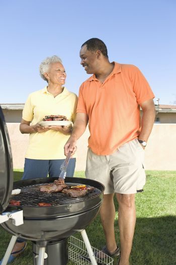Couple at a barbeque