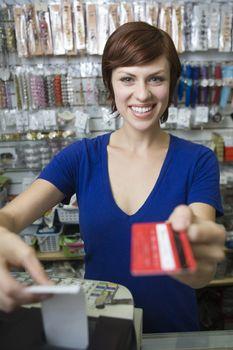 Portrait of female sales assistant