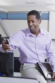 Cheerful African American Businessman