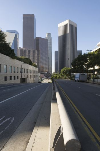 Empty Road Of Downtown