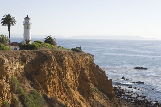 Lighthouse By Seashore