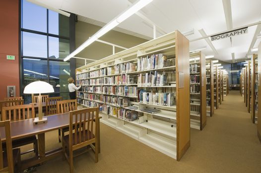 Reading Room In Library