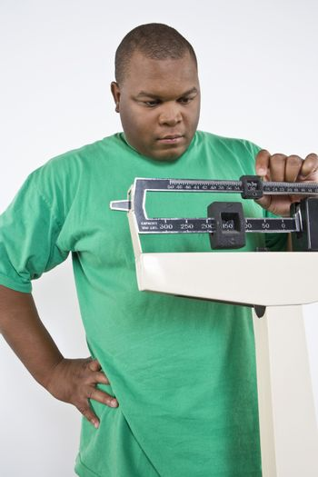Man using weight scales