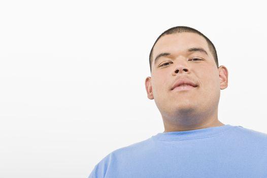 Portrait of teenage (16-17) boy