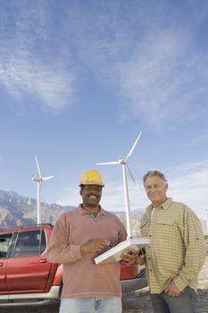 Men working at wind farm