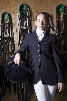 Female horseback rider portrait