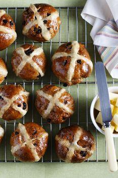 Muffins on baking sheet