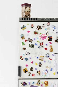 Cookies on top of fridge