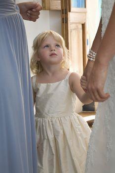 Girl at wedding reception