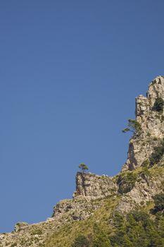 Rocks and blue sky