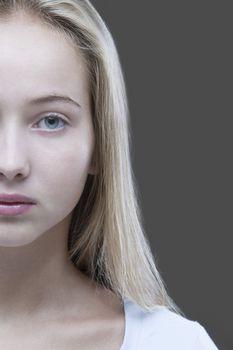 Studio shot of teenage (16-17) girl