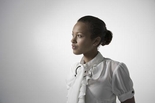 Young elegant woman studio shot
