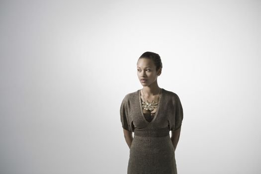 Young woman studio shot