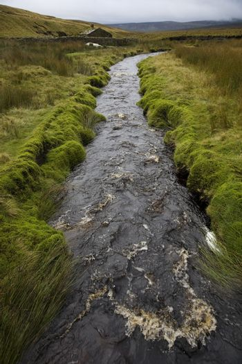 Brook in Yorkshire Dales Yorkshire England