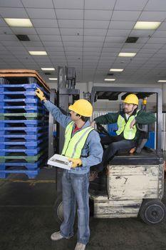 Men working in factory
