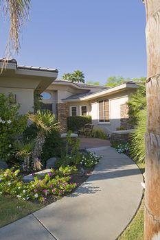 Modern suburban house exterior